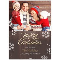 Brilliant Season - 5x7 Personalized Christmas Card