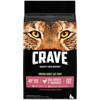 Crave Grain Free Indoor Adult with Protein from Chicken & Salmon Dry Cat Food, 10 lb