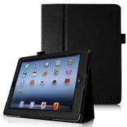 Fintie iPad 2/ iPad 3/ iPad 4 Gen Folio Case - PU Leather Cover with Auto Wake/ Sleep Feature, Black