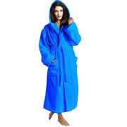Women's Toweling Robe 100% Terry Cotton Hooded Bathrobe
