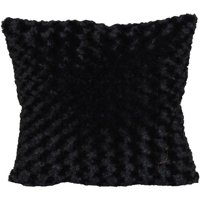 "Better Homes & Gardens Rosette Fur Decorative Toss Pillow 18""x18"", Black"