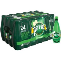 (24 Bottles) PERRIER Green Apple Flavored Carbonated Mineral Water, 16.9 Fl Oz