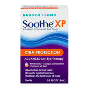 Bausch & Lomb Soothe XP Emollient Lubricant Eye Drops Xtra Protection with Restoryl