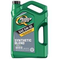 Quaker State 5W-30 Dexos Synthetic Blend Motor Oil, 5 qt