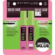 Maybelline Great Lash & Great Lash Big Mascara Set, 2 Pc
