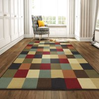 Ottomanson Ottohome Collection Contemporary Checkered Design Non-Skid Rubber Backing Modern Area or Runner Rug, Multicolor