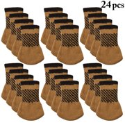 24pcs Chair Socks Outgeek Knitted Anti Skid Leg Floor Protectors Furniture Pads Table