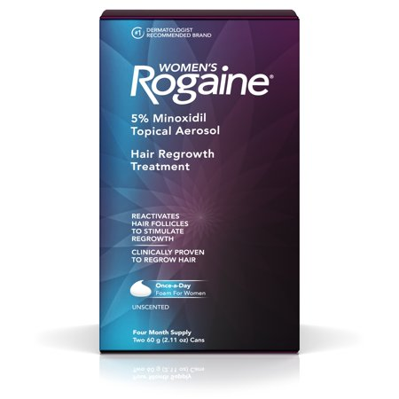 Women's Rogaine 5% Minoxidil Foam for Hair Regrowth, 4-Month (Best Hair Regrowth Products For Men)