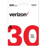 Verizon Wireless $30 Prepaid Refill Card (Email Delivery)