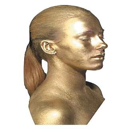 GOLD METAL BODY PAINT metalic face fantasy makeup cosmetic kit robot halloween](Halloween Face Paint Simple Ideas)