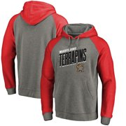 2de508389 Maryland Terrapins Fanatics Branded Slant Strike Tri-Blend Raglan Pullover  Hoodie - Heathered Gray