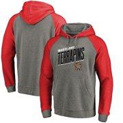 2de508389 Maryland Terrapins Fanatics Branded Slant Strike Tri-Blend Raglan Pullover  Hoodie - Heathered Gray