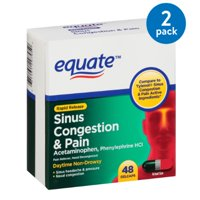 Equate Rapid Release Sinus Congestion & Pain Gelcaps, 48 count