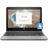 "Certified Refurbished HP 11-v020wm 11.6"" Chromebook, Touchscreen, Chrome, Intel Celeron N3060 Processor, 4GB RAM, 16GB eMMC Drive"