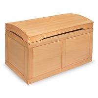 Badger Basket Hardwood Barrel Top Toy Chest - Natural