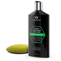 TriNova Leather Conditioner and Restorer, Best for Furniture, Couches, Seats, Interior. 8oz Applicator Included.