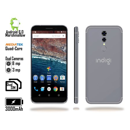 - Indigi® Unlocked Indigi 5.0inch QuadCore 4G Android 6.0 Smart Cell Phone aT&T / T-mobile