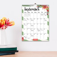 "2019 Floral Striped July 2018 - June 2019 Academic Year 11""x8.5"" Monthly Wall Calendar"