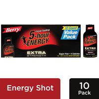 5-hour ENERGY® Extra Strength Berry Flavor, Low Calorie Energy Shot, 10 Pack