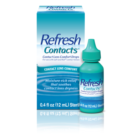 Refresh Contacts® Contact Lens Comfort Eye Drops 0.4 fl. oz. - Cat Eye Contact