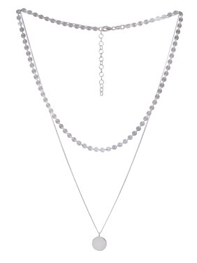 Sterling Silver Two Strand Layered Necklace
