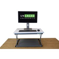 CHANGEdesk Mini Adjustable Height Laptop/Desktop Standing Desk Conversion. Portable Compact easy ergonomic sit to stand up computer riser converter