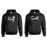 a881c27c4b1 KING and QUEEN - Couples TWO Hoodie COMBO