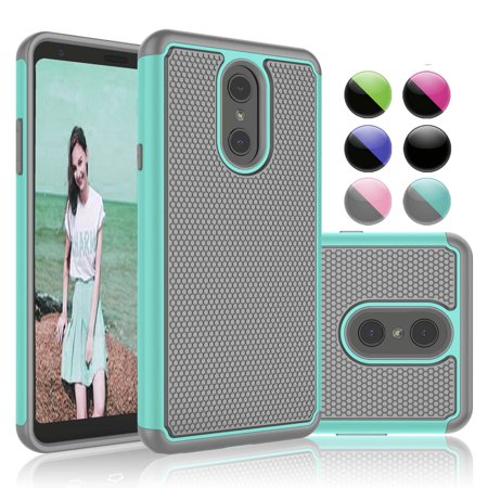 LG Stylo 4 Cases, LG Stylo 4 Plus Case, LG Stylus 4 Case, Njjex Ruugged Rubber Scratch Resistant Hard Plastic Phone Case For LG G Stylo 4 (2018 (Pda Cell Phone Rubber)