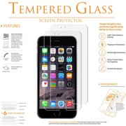 [2-PACK] KIQ GLASS Screen Protector for iPhone 6 Plus, Tempered Glass