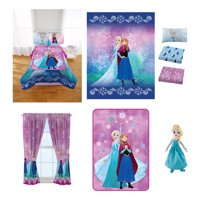 Disney's Frozen Nordic Frost Room in a Bag comes with Twin Comforter, Pillow Buddy, Sheet Set, Curtains and Blanket!