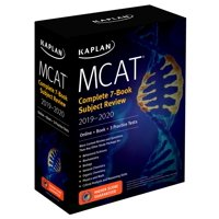 MCAT Complete 7-Book Subject Review 2019-2020 : Online + Book + 3 Practice Tests