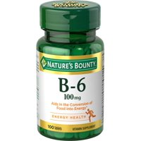 Nature's Bounty B-6, 100mg Tablets, 100ct