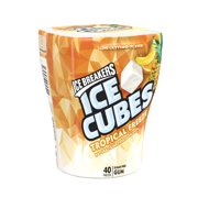 Ice Breakers, Ice Cubes Tropical Freeze Sugar Free Gum, 3.24 Oz