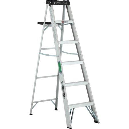 Louisville Ladder 6 Ft Lightweight Aluminum Step Ladder Type Ii 225 Lbs Load