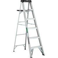 Louisville Ladder 6 ft. Lightweight Aluminum Step Ladder, Type II, 225 Lbs Load Capacity, W-2213-06S