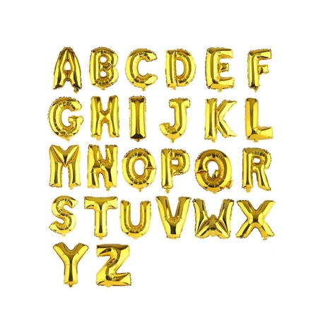 """16""""/ 40"""" Large Foil Inflated Balloon Letter A-Z Number 0-9 Float Helium Balloons Birthday Wedding Party Decoration 4 Colors (Gold, Silver, Blue, Pink)"""