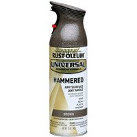 Rust-Oleum Universal All Surface Hammered Brown Spray Paint and Primer in 1, 12 oz