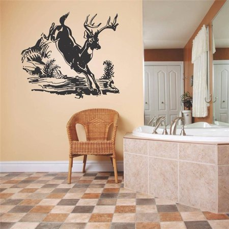 Custom Wall Decal Vinyl Sticker : Deer Running Outdoor Scene Living Room Bedroom Kitchen Home Decor Image - Diner Decor