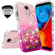 Compatible for LG Stylo 4 Case, LG Q Stylus Case, with [Temper Glass