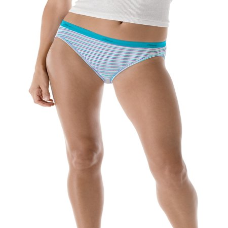 - Women's Cotton No Ride Up Bikini Panties 6-Pack