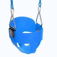High Full Bucket Swing With Coated Chain,Toddler Swing Set Swing Seat Outdoor Kids Toys HFON