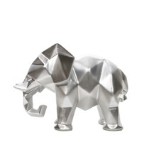 "Mainstays 6.5""High Tabletop Resin Geometric Elephant, Silver Finish"