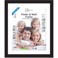 Mainstays 20x24 Matted to 16x20 Wide Gallery Poster and Picture Frame, Black