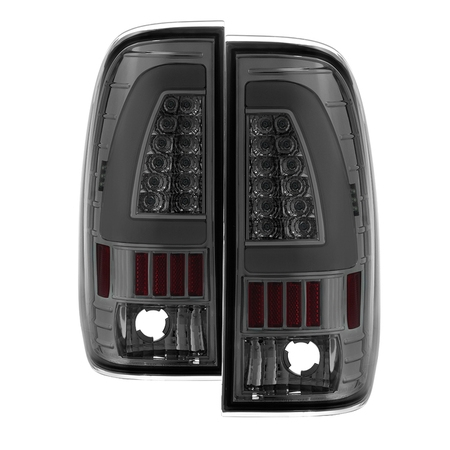 1997 1998 1999 2000 2001 2002 2003 Ford F150 LED Fiber Optic LED Bar Chrome Smoked Tail Lights PAIR