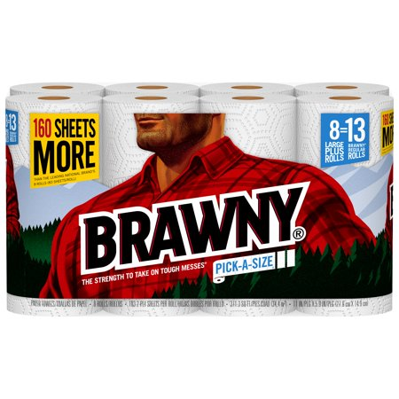 Brawny Paper Towels, 8 Large Plus Rolls, Pick-A-Size - Halloween Crafts With Paper Towel Roll
