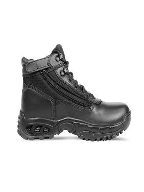 Ridge Footwear Mid-size Tactical Black Leather Zipper Boots - Multiple Sizes