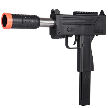 UKARMS Spring MAC UZI Airsoft Gun SMG Pistol w/ 6mm BBs + Detachable Magazine