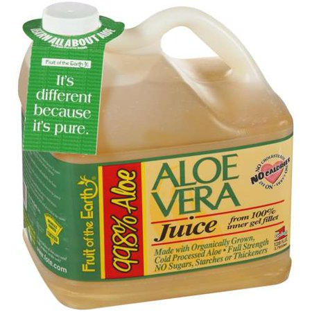 Fruit of the Earth Aloe Vera Juice, Original, 128 Fl Oz, 1 Count (Kids Organic Juice Boxes)