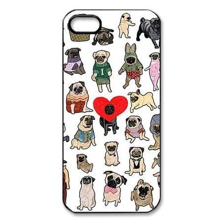 50c Case (Ganma 23 Pug Dogs Puppy Cute Breed Case For iPhone 6 PLUS / 6S PLUS (5.5 in), Rubber TPU case, Cover , Ne6 PLUS / 6S PLUS (5.5 in)t Day )