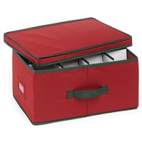 Homz Small Heirloom Holiday 24-Ornament Storage Box, 1 Count